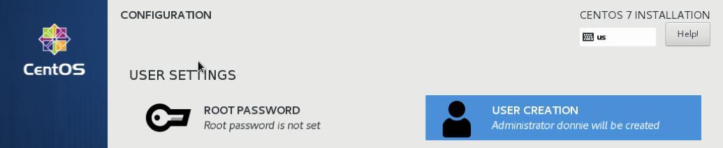 CentOS 7 user settings