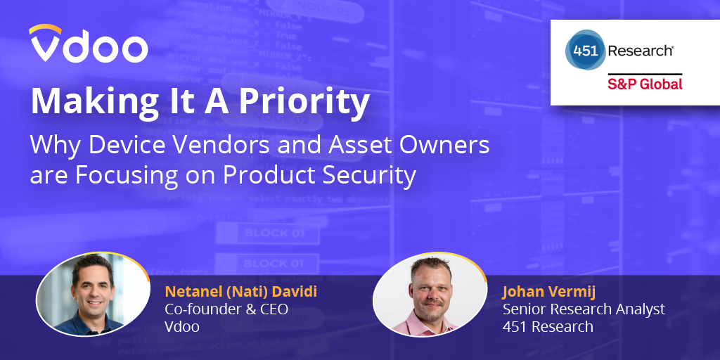 Making Product Security a Priority – Webinar with 451 Research
