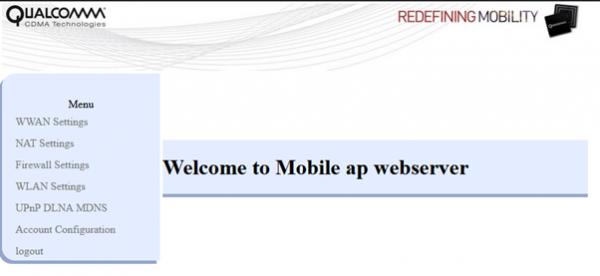 Qualcomm services configured via web